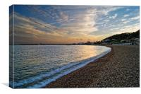 Lyme Regis Sunset                      , Canvas Print