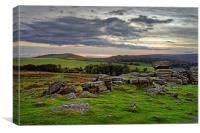 Hound Tor Sunset                               , Canvas Print