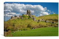 Corfe Castle                       , Canvas Print