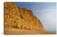 East Cliff,West Bay                     , Canvas Print