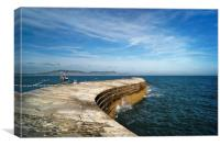 The Cobb, Lyme Regis                      , Canvas Print