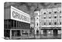 Crucible & Lyceum Theatres, Sheffield             , Canvas Print