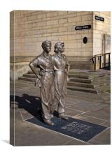 Women of Steel, Sheffield                      , Canvas Print