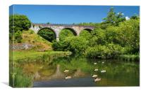 Headstone Viaduct & River Wye, Monsal Dale        , Canvas Print