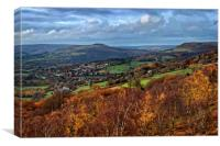 Hathersage and Hope Valley                    , Canvas Print