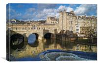 Pulteney Bridge & River Avon in Bath              , Canvas Print