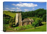 All Saints Church, Eggesford, Canvas Print