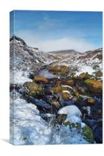 Burbage Brook & Carl Wark                       , Canvas Print