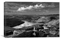 Ladybower from Bamford Edge                       , Canvas Print
