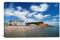 Sidmouth Seafront & Coastline                  , Canvas Print