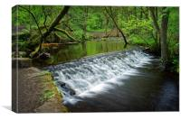 Holme Head Weir, Rivelin                         , Canvas Print