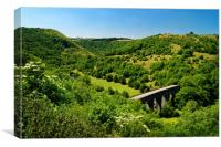 Monsal Dale from Monsal Head                      , Canvas Print