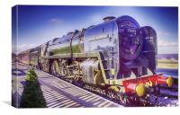 Oliver Cromwell Steam Locomotive, Canvas Print