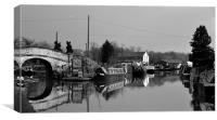 Nantwich Water Marina, Canvas Print