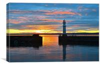 Sunset Lighthouse, Canvas Print