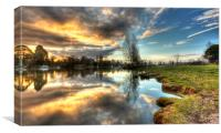 Sunrise At Cookham, Canvas Print