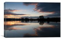 Sunrise on the River Trent, Canvas Print