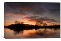 Sunrise at Colwick Park, Canvas Print