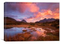 Sligachan Fire , Canvas Print