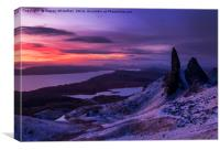 Pre Dawn at the Storr, Canvas Print