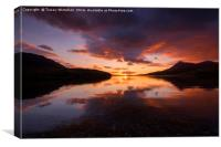 Assynt Sunset , Canvas Print
