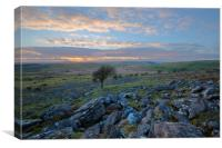 Sunset on Bodmin Moor, Canvas Print