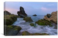 Shag Rock Downderry Cornwall, Canvas Print