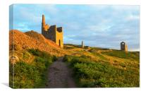 West Wheal Owles Engine House Botallack, Canvas Print