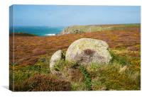 Heather At Pendower Cove, Canvas Print
