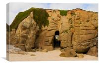 Porthgwarra Caves, Canvas Print