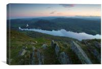 Sunset at Gummers Fell, Canvas Print