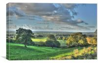 Cheshire View, Canvas Print