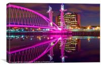 Quays Millennium footbridge, Canvas Print