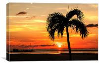 Sunset Fort Myers Beach Florida, Canvas Print
