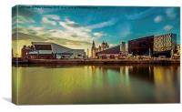 Liverpool evening skyline, Canvas Print