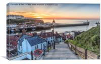 Whitby the 99 Steps, Canvas Print