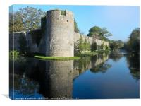 BISHOPS PALACE WALL MOAT WELLS, Canvas Print