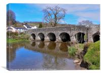 WITHYPOOL BRIDGE OVER RIVER BARLE, Canvas Print