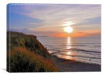 SUNSET AT KILVE BEACH SOMERSET, Canvas Print