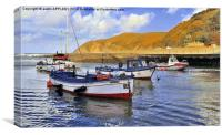 LYNMOUTH HARBOUR DEVON, Canvas Print