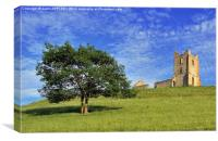 BURROW MUMP TREE AND CHURCH, Canvas Print
