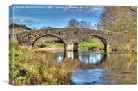 Two Bridges Old Bridge Dartmoor, Canvas Print