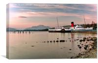 Maid Of The Loch Paddle Steamer, Canvas Print