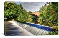 Bridge over the River Kelvin, Canvas Print