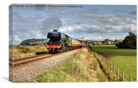 Flying Scotsman At Blue Anchor Somerset, Canvas Print
