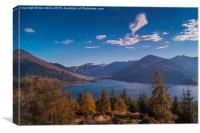 Loch Duich and the Five Sister, Canvas Print
