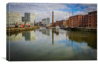 Albert Dock , Canvas Print