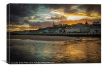 Sunset Over Lossiemouth, Canvas Print