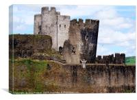 The Leaning Tower of Caerphilly Castle, Canvas Print