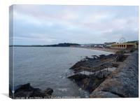 An Evening in Barry Island                        , Canvas Print